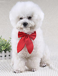 cheap -Dog Tie / Bow Tie Dog Clothes Bowknot Black Red Wine Terylene Costume For Spring &  Fall Winter Men's Women's Wedding