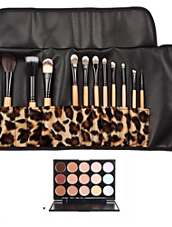 cheap -12pcs-white-handle-makeup-brush-set-with-leopard-package-15-color-concealer