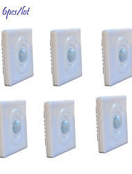 cheap -Jiawen 6pcs/lot Optically-Controlled  LED Human Body Inductive Motion Sensor Wall Switch