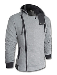 cheap -Men's Plus Size Hoodie Jacket Solid Colored Hoodies Sweatshirts  Long Sleeve Wine White Black