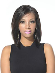cheap -Human Hair Wig Straight Straight Machine Made Natural Color Natural Black 12 inch
