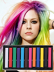 cheap -12 color temporary chalk crayons for hair non toxic hair dye pastels stick diy styling tools