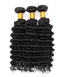 Недорогие -Бразильские волосы Кудрявый 100 g Человека ткет Волосы Ткет человеческих волос Расширения человеческих волос / 8A