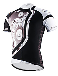 cheap -ILPALADINO Men's Short Sleeve Cycling Jersey Polyester Black Bike Jersey Top Mountain Bike MTB Road Bike Cycling Breathable Quick Dry Ultraviolet Resistant Sports Clothing Apparel / Stretchy