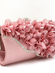 cheap -Women's Bags Chiffon Evening Bag Flower Floral Print Party Wedding Event / Party Evening Bag Wedding Bags Handbags Black Fuchsia Pink
