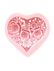 Недорогие -1шт Силикон Экологичные День Святого Валентина Торты Печенье Пироги выпечке Mold Инструменты для выпечки