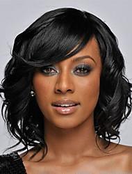 cheap -Synthetic Wig Wavy Wavy Wig Short Synthetic Hair Women's Black StrongBeauty