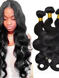 cheap -3 Bundles Peruvian Hair Body Wave Virgin Human Hair 150 g Natural Color Hair Weaves / Hair Bulk 8-26 inch Human Hair Weaves Human Hair Extensions / 10A