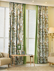 cheap -Rod Pocket Grommet Top Tab Top Double Pleated Two Panels Curtain Country Modern Neoclassical Mediterranean European , Novelty Cartoon