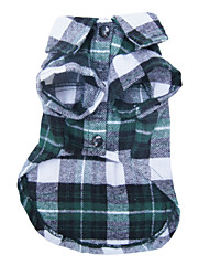 cheap -Dog Shirt / T-Shirt Plaid / Check Casual / Daily Fashion Dog Clothes Red Blue Green Costume Terylene S M L XL