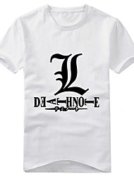cheap -Inspired by Death Note Yagami Raito Anime Cosplay Costumes Japanese Cosplay T-shirt Print Short Sleeve T-shirt For Men's / Women's