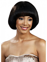cheap -Synthetic Wig Straight Straight Bob With Bangs Wig Short Black Synthetic Hair Women's Black