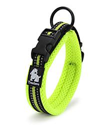 cheap -Cat / Dog Collar Reflective / LED Lights / Breathable / Fashion Black / Green / Orange Nylon