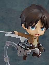 cheap -Anime Action Figures Inspired by Attack on Titan Eren Jager PVC(PolyVinyl Chloride) 10 cm CM Model Toys Doll Toy Boys' Girls'