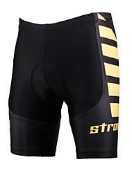 cheap -ILPALADINO Men's Cycling Padded Shorts Lycra Bike Shorts Padded Shorts / Chamois Pants Windproof Breathable 3D Pad Sports Black / Yellow Road Bike Cycling Clothing Apparel Relaxed Fit Bike Wear