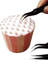 Недорогие -Антистатический локоть прямо из нержавеющей стали пинцет инструмент для украшения торта