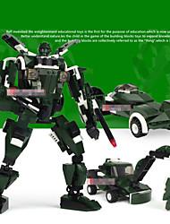 cheap -Plastic Models Building Toy For Boys Scale Models Transformers Children Educational  Building Blocks Cartoon Green Tank