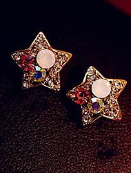 cheap -Women's Drop Earrings Star Ladies Luxury Rhinestone Imitation Diamond Earrings Jewelry Golden For Daily