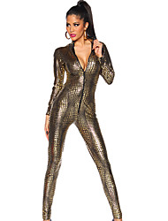 cheap -Women's Movie / TV Theme Costumes More Costumes Career Costumes Sexy Uniforms More Uniforms Sex Zentai Suits Cosplay Costume Catsuit Solid Colored Dress / Leather