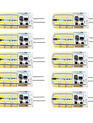 cheap -10 pcs G4 Dimmable 2.5W 24LED SMD2835 Corn Light White / Warm White / AC12V / DC12V / AC220V