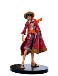 cheap -Action Figure Monkey D. Luffy PVC(PolyVinyl Chloride) 1 pcs Cartoon Men's Toy Gift