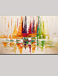 cheap -Oil Painting Hand Painted - Abstract Landscape Still Life Modern With Stretched Frame