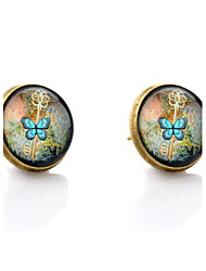 cheap -Women's Stud Earrings Butterfly Animal Ladies Simple Style Earrings Jewelry Bronze For Wedding Party Daily Casual