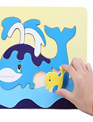 Недорогие -головоломки игрушки деревянные животных головоломки борту мать кита и ребенка