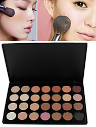 cheap -28 Colors Eyeshadow Palette Powders 1 pcs Dry / Matte / Shimmer Waterproof / Breathable / Whitening Eye / Face Makeup Cosmetic