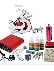 Недорогие -BaseKey Татуировочная машина Набор для начинающих, 1 pcs татуировки машины с 1 x 20 ml татуировки чернила - 1 х Стальная тату-машинка для