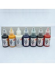 cheap -1-set-basekey-tattoo-ink-20mlx7-colors-red-brilliant-blue-white-black-green-golden-dark-brown