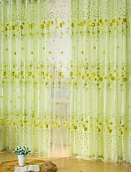 cheap -Rod Pocket One Panel Curtain Country, Print Living Room Polyester Material Sheer Curtains Shades Home Decoration