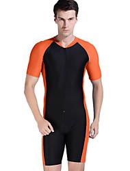 cheap -SBART Men's Rash Guard Dive Skin Suit Diving Suit Sun Shirt Short Sleeve Swimming Diving Snorkeling Spring Summer Fall / Winter
