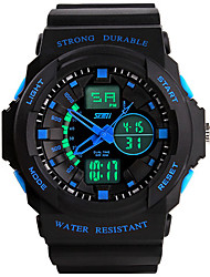 cheap -Men's Unisex Sport Watch Fashion Watch Wrist Watch Digital Silicone Black Water Resistant / Waterproof LED Green Blue