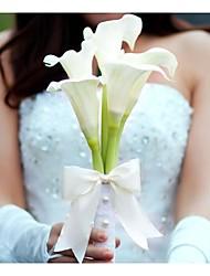 """Недорогие -Свадебные цветы Букеты Свадьба / Вечеринка / ужин Полиэстер 11,8""""(около 30см)"""