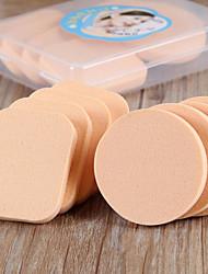 abordables -8 pcs Sans latex Non-allergénique Rond Carré Éponges naturelles Houppette Éponges de maquillage Pour Poudre Crème Liquide Outils de beauté Blende