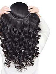 cheap -mix size 3pcs lot 8 26inch peruvian virgin hair loose wave black color raw human hair weaves