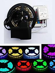 cheap -ZDM 1PC Waterproof 1M 15W 60 x 5050 10mm RGB LED Light Led Strip Light 44Key IR Controller with 12V/2A EU/US Adapter Light Sets