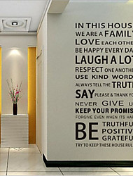 cheap -Words & Quotes Wall Stickers Words & Quotes Wall Stickers Decorative Wall Stickers, Vinyl Home Decoration Wall Decal Wall Decoration / Removable