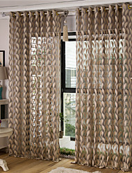 cheap -Jacquard Feather Sheer Curtain (Two Panel)