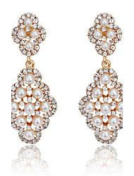 cheap -Women's Crystal Drop Earrings Pearl Cubic Zirconia Earrings Jewelry Gold / Silver For Party