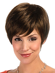 cheap -Synthetic Wig Straight Style Wig Brown Synthetic Hair Women's Wig Short StrongBeauty