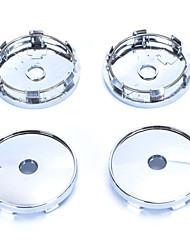 Недорогие -4 шт серебряный тон пластик 60 мм диам автомобиля капот эмблема колесо центр крышки ступицы крышки
