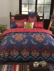 cheap -Floral Cotton 4 Piece Duvet Cover Sets