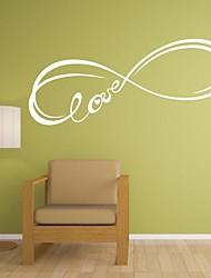 abordables -Abstrait Romance Mode Mots& Citations Fantaisie Stickers muraux Mots et citations Stickers muraux Autocollants muraux décoratifs, Vinyle