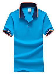 cheap -Men's Plus Size Color Block Basic Slim Polo Daily Sports Shirt Collar White / Black / Green / Blue / Gray / Summer / Short Sleeve