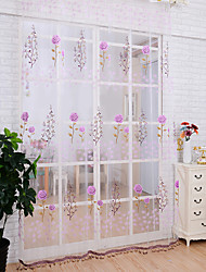 """cheap -Sheer Curtains Shades One Panel 39""""W*79""""L Orange / Living Room"""