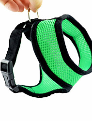 cheap -Cat Dog Harness Adjustable / Retractable Cosplay Textile Green Blue Pink