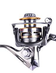 cheap -Spinning Reel 5.2:1 Gear Ratio+12 Ball Bearings Hand Orientation Exchangable Sea Fishing / Bait Casting / Ice Fishing - DM3000 / Freshwater Fishing / Carp Fishing / Bass Fishing / Lure Fishing