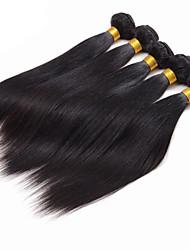 Недорогие -4 Связки Индийские волосы Прямой Натуральные волосы 400 g Человека ткет Волосы Ткет человеческих волос Расширения человеческих волос / 8A / Прямой силуэт